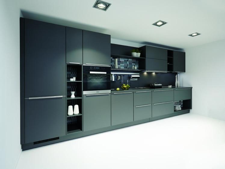 9 cucine da sogno vestite di grigio mobili di lillo - Cucina grigio scuro ...