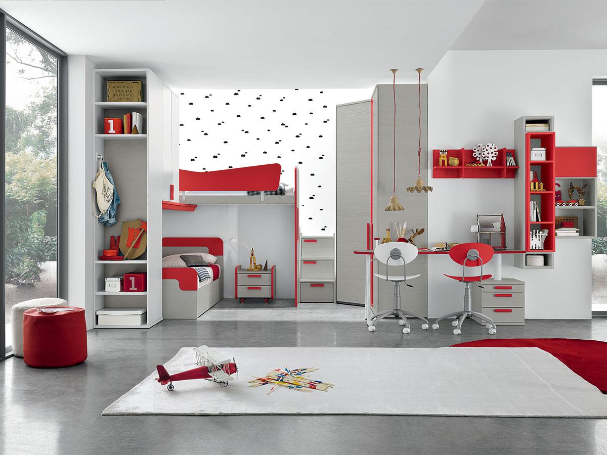 Camerette mobili di lillo scenografie d 39 interni - Colori parete cameretta ...