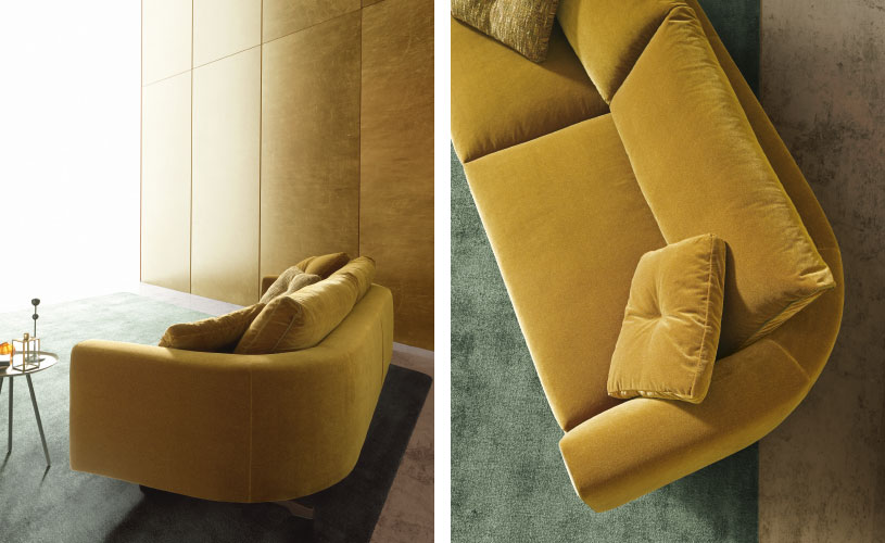 v4 divano curvo mobili di lillo