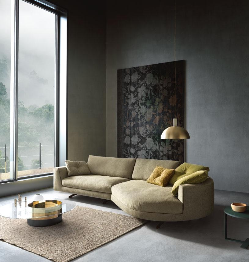 v8 divano curvo mobili di lillo